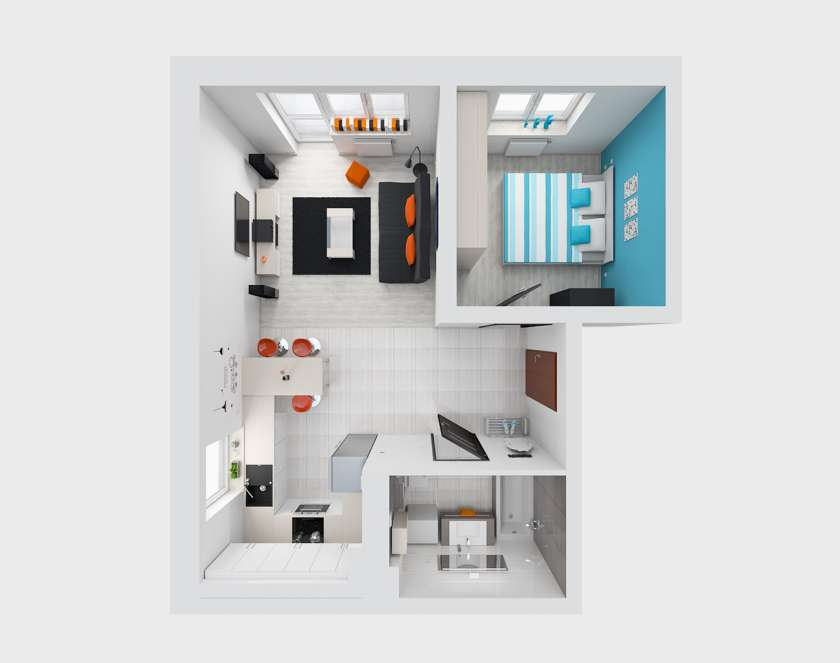 Small flat interior design