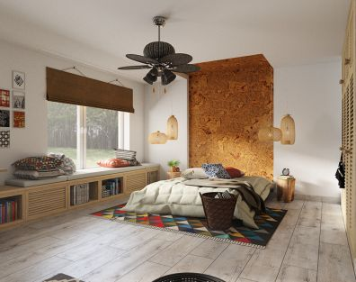 Goodbye, Africa - ethnic bedroom interior design