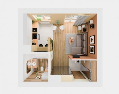 31 square meter small flat
